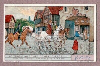 Horse Riders In The City A Colorful c80 Year Old Trade Ad Card