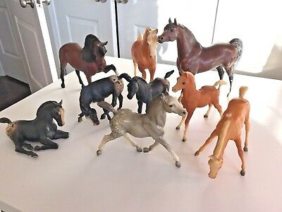 Vintage Lot of 9 BREYERS  Horses Traditional + Classic Estate Sale Find!