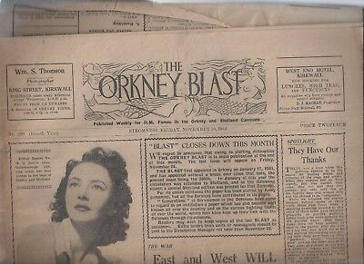 The Orkney Blast Stromness  Newspaper For Hm Forces In Orkney/ Shetland 3 Issues
