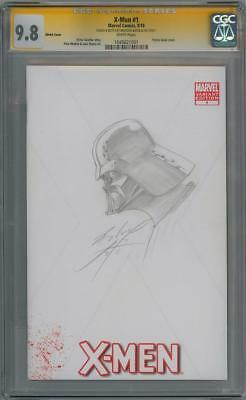 X-Men #1 Cgc 9.8 Signature Series Signed Badeaux Darth Vader Sketch Star Wars