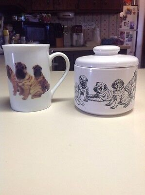 Chinese Shar-Pei Coffee Mug And Treat Jar