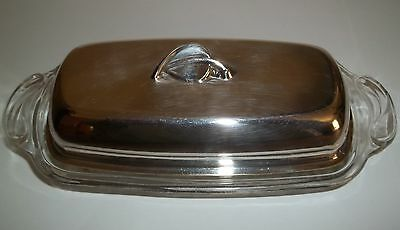 Wm A Rogers Covered Butter Dish MEADOWBROOK
