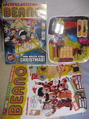 Beano 3864 Christmas Issue 2016 PRANK PACK 12 free trick gifts incl ICE CUBE ANT
