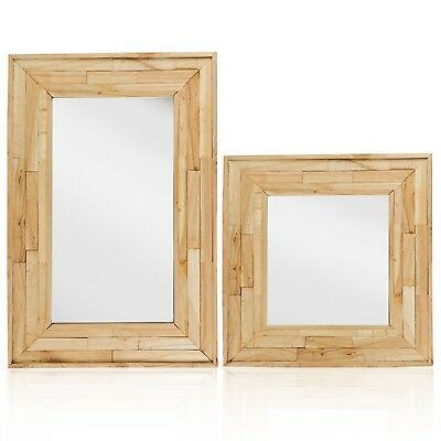 Large Wall Mounted Wooden Mirror Retro Frame Shabby Chic Hallway Hanging Decor