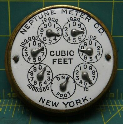 Vintage Neptune Water Co. Trident Water Meter, No Cap/Cover