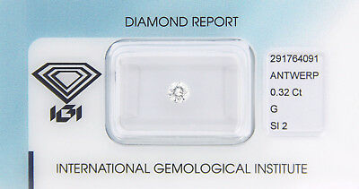 Diamant 0,32 ct G SI 2 IGI Zertifikat  - Sealed -