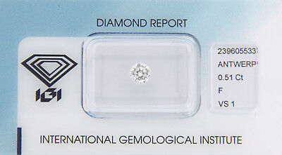 Diamond 0,51ct F VS 1