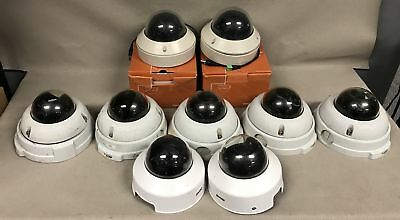 """Lot of 9 3-1/2""""(5) Axis 225FD Fixed Dome POE IP Security Surveillance Camera"""