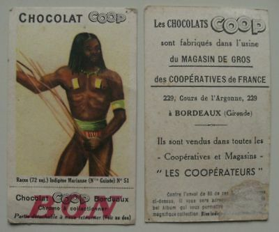 20 images Chocolat COOP : RACES - TYPES - COSTUMES sans double