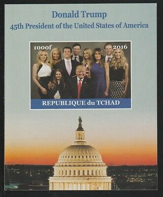Chad 6759 - 2016  DONALD TRUMP   imperf s/sheet  unmounted mint