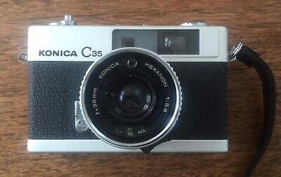 Konica C35 E&L Film camera w/ Hexanon 38mm F2.8 Lens from CLEAN