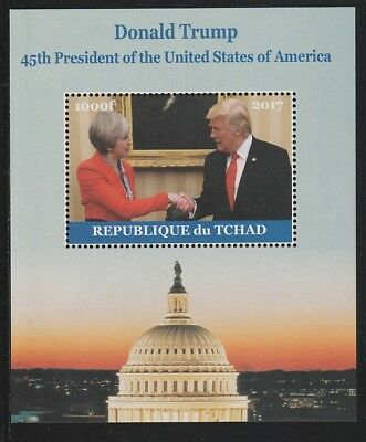 Chad 6760 - 2017  DONALD TRUMP #1 perf s/sheet  unmounted mint