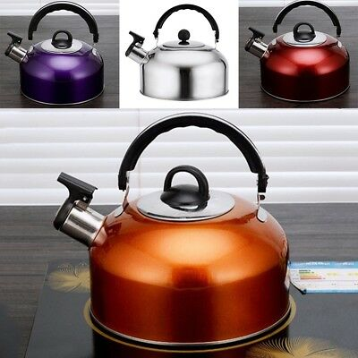 Whistling Tea Kettle Stainless Steel Teapot for Stove Top Fast Boil Water Coffee