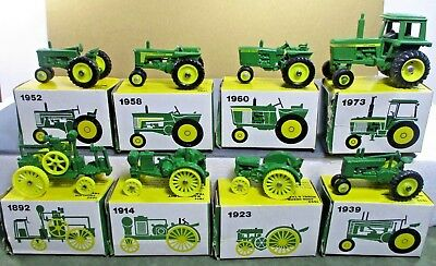 "John Deere ERTL mini toy tractors w box 2.75""x1.75"" Select Year of model #www"