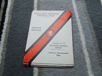 Welling United V Aveley 1981-2 Fa Cup 3Rd Replay