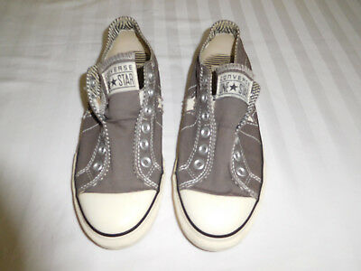 Converse One Star Women's Low Top Slip On  Size 8.5 Gray Canvas Sneakers