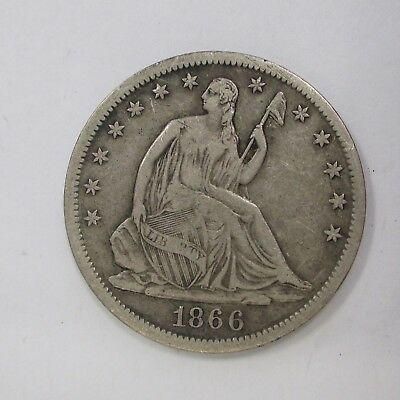 1866 Seated Half Dollar