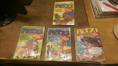 Petzi 1977 Gruner & Year All 4 Issues 20-23 with Gimmick Top Original Package