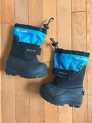 Columbia Toddler Boy Powderbug Plus II Winter Snow Boot Blue Waterproof Size 5