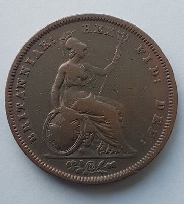 1831 William IIII Large Copper Penny  Scarce