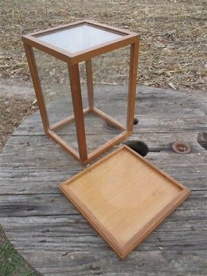 Wooden Plexi Showcase Country Store Vintage Display Case Cabinet Countertop e