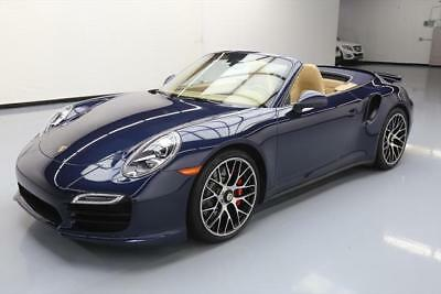 2014 Porsche 911 Turbo S Convertible 2-Door 2014 PORSCHE 911 TURBO CABRIOLET AWD PDK NAV 20'S 23K #173555 Texas Direct Auto