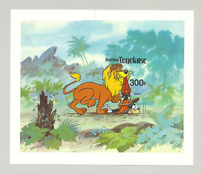 Togo #1072 Disney, Lion, Wild Cats 1v S/S Imperf Proof