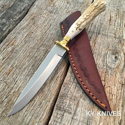 STEEL STAG Genuine Deer Stag Skinner Hunting Knife NEW W/ Leather Sheath SS-7016