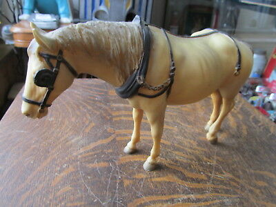 "Vintage Breyer Working Horse 6 3/4"" High And 11 1/2"" Long"