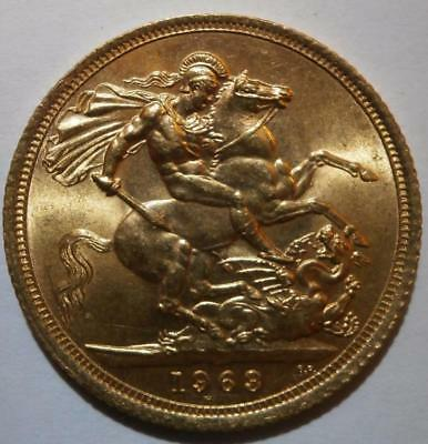 Q E Ii 1963 22Ct Solid Gold Full Sovereign Coin  No Reserve