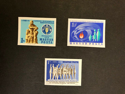 Hungary Scott No 2035, 2044, 2061 MNH Imperforate Imperf Imp Stamps from 1970