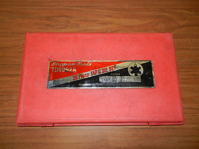 Snap On 25 Pc Tap And Die Set, TD9902A, INCOMPLETE Please Read **FREE SHIPPING**