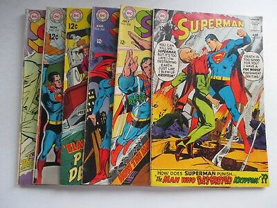 Lot Of 6 Dc Superman #205,208-211,214 Neal Adams Covers