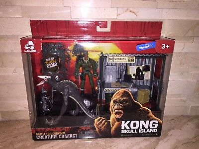 King Kong Skull Island Monarch Outpost Creature Contact Figure Set