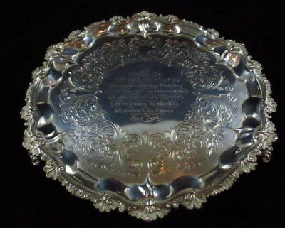 Antique London Daniel & Charles Houle Sterling Presentation Footed Tray 1810+