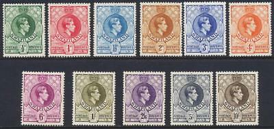 SWAZILAND 1938 SET, VF LH SG#28-38a CAT£95 $128 (SEE BELOW)