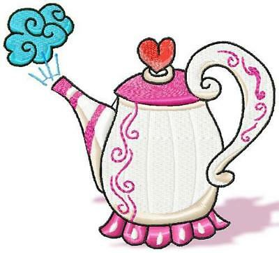 Country Teapots 10 Machine Embroidery Designs Cd 2 Sizes Included