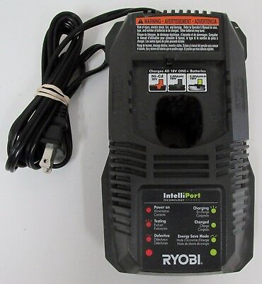 RYOBI INTELLIPORT ONE+  Ni-Cd/Lithium Ion BATTERY CHARGER  P118  MINT CONDITION