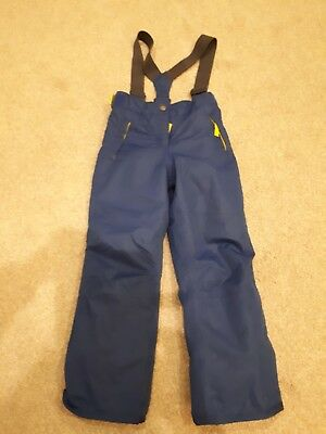 Mini Boden girls Age 6-7 yrs all Weather Proof Ski Trousers blue great cond
