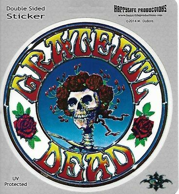 Grateful Dead Bertha With Roses Sticker Decal Bumper Sticker Double Sided