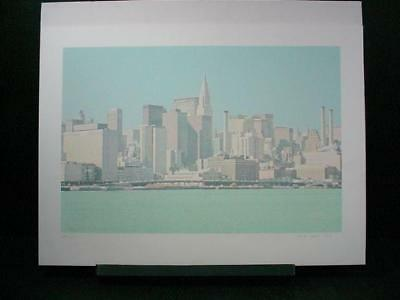 "NobleSpirit {3970}Signed/Numbered Han Hsiang-Ning ""NY Skyline"" Silkscreen"
