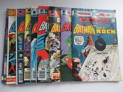 Lot Of 9 Dc Brave And The Bold #115,117 100-Pg, 124-130 Batman