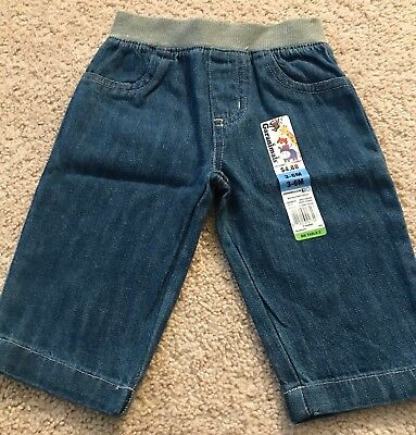 Babie's Garanimals Denim Jeans Pants-3-6 Months-Nwt!