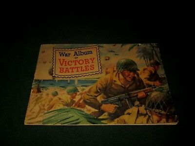 WAR ALBUM OF VICTORY BATTLES-1945 GENERAL MILL STAMP BOOKLET--COMPLETE w STAMPS