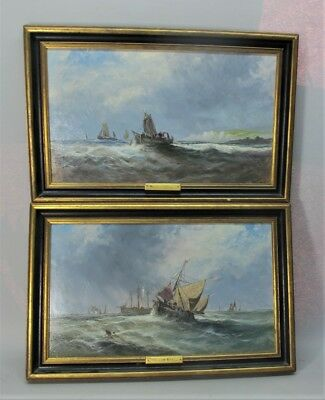 Fine Pair of English Seascape Paintings  After WILLIAM KNELL  c. 1920