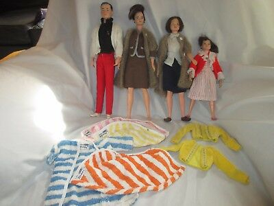 1960's Littlechap Family dolls clothes extras Judy, Libby, Lisa and Dr. John
