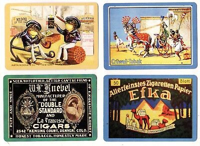 CIGARETTES/TOBACCO ADS #Dec2 ~  4 x MODERN WIDE Swap/Playing Cards