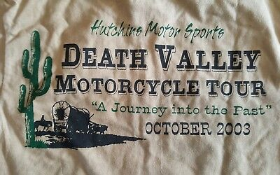 Death Valley Motorcycle Tour 2003 T Shirt Hutchins Motor Sports Yucca Valley Ca