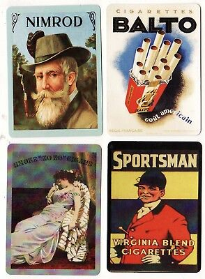 CIGARETTES/TOBACCO ADS #Dec3 ~  4 x MODERN WIDE Swap/Playing Cards