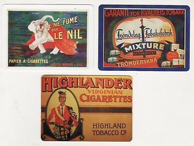 CIGARETTES/TOBACCO ADS #Dec8 ~  3 x MODERN WIDE Swap/Playing Cards